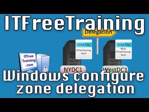DNS Delegation Using Windows DNS