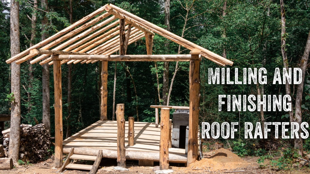 S2 EP25 | TIMBER FRAME | FOREST KITCHEN | CUTTING, MILLING AND FINISHING ROOF RAFTERS
