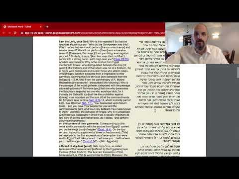 What Does The Torah Say? TZITZIT Pt. 1   Rabbi Levi Y. New