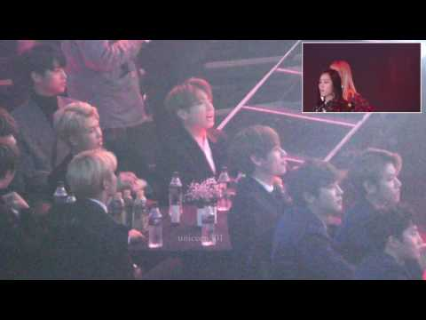repost seoul music award 2017 BTS EXO reaction to BLACKPINK