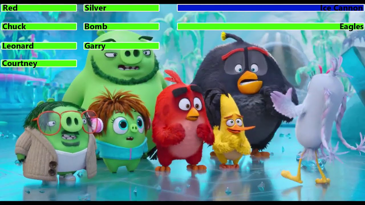 Download The Angry Birds Movie 2 (2019) Final Battle with healthbars 1/4 (Thanksgiving Day Special)
