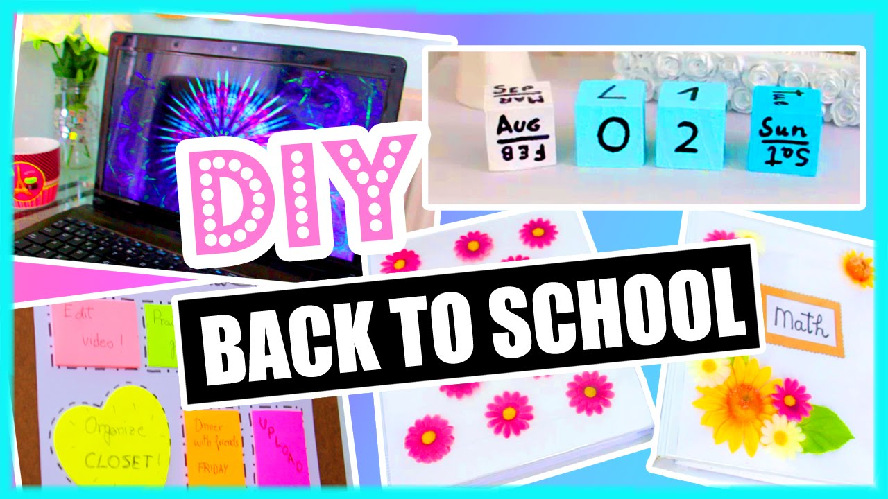 Decorate a binder with pictures for Back to school decoration ideas