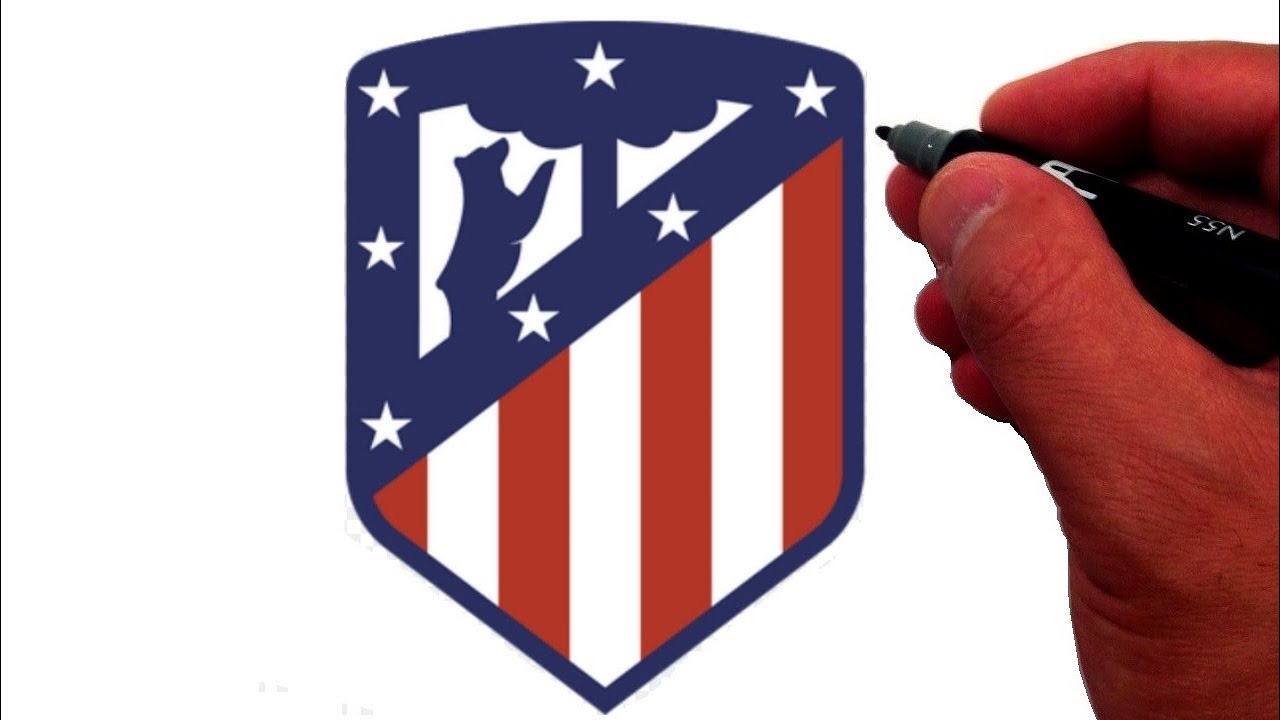 How To Draw The Atlético Madrid Logo Youtube