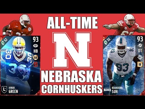 All-Time Nebraska Cornhuskers Team - Ahman Green and Ndamukong Suh! - Madden 17 Ultimate Team