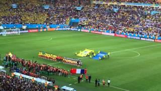 La Marseillaise au Maracana avant la Final. Aller les Bleus. FIFA 2014