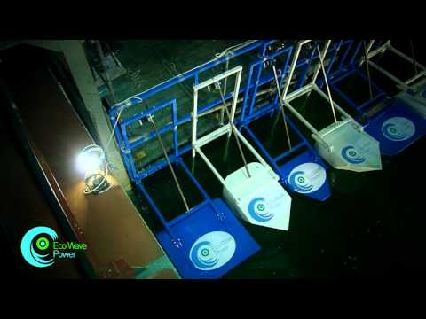 Eco Wave Power (small scale wave energy generation system)  .flv