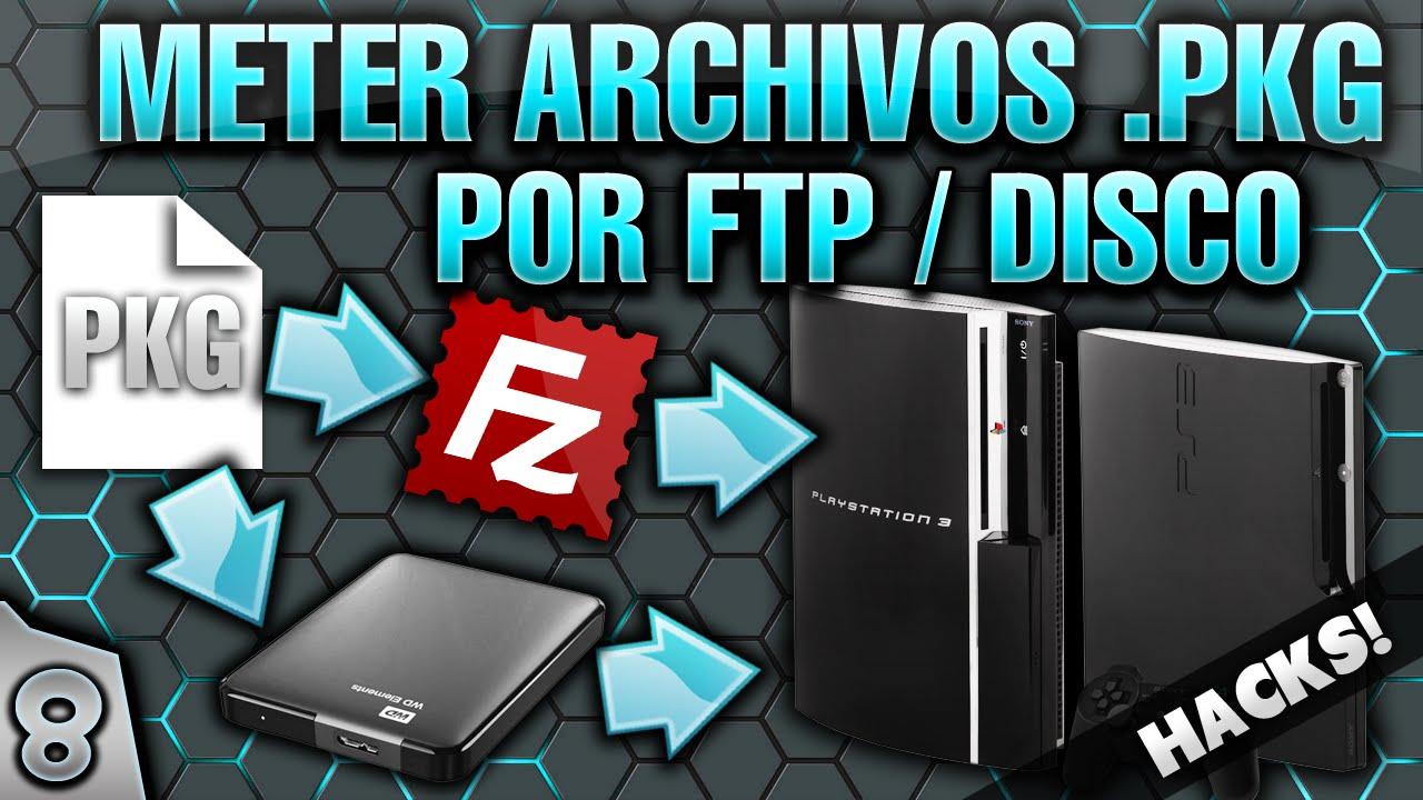 8- GUIA PS3 PIRATA: COMO METER ARCHIVOS  PKG (DLC) EN LA PS3 (POR DISCO  DURO EXTERNO & FTP)