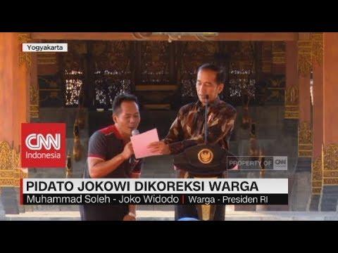Pidato Presiden Jokowi Dikoreksi Warga