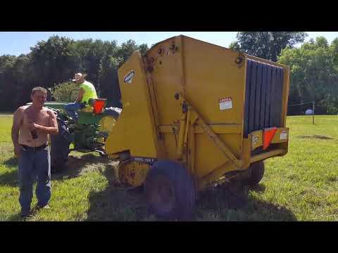 John Deere 60 Vermeer 504F Round Bailer YouTube