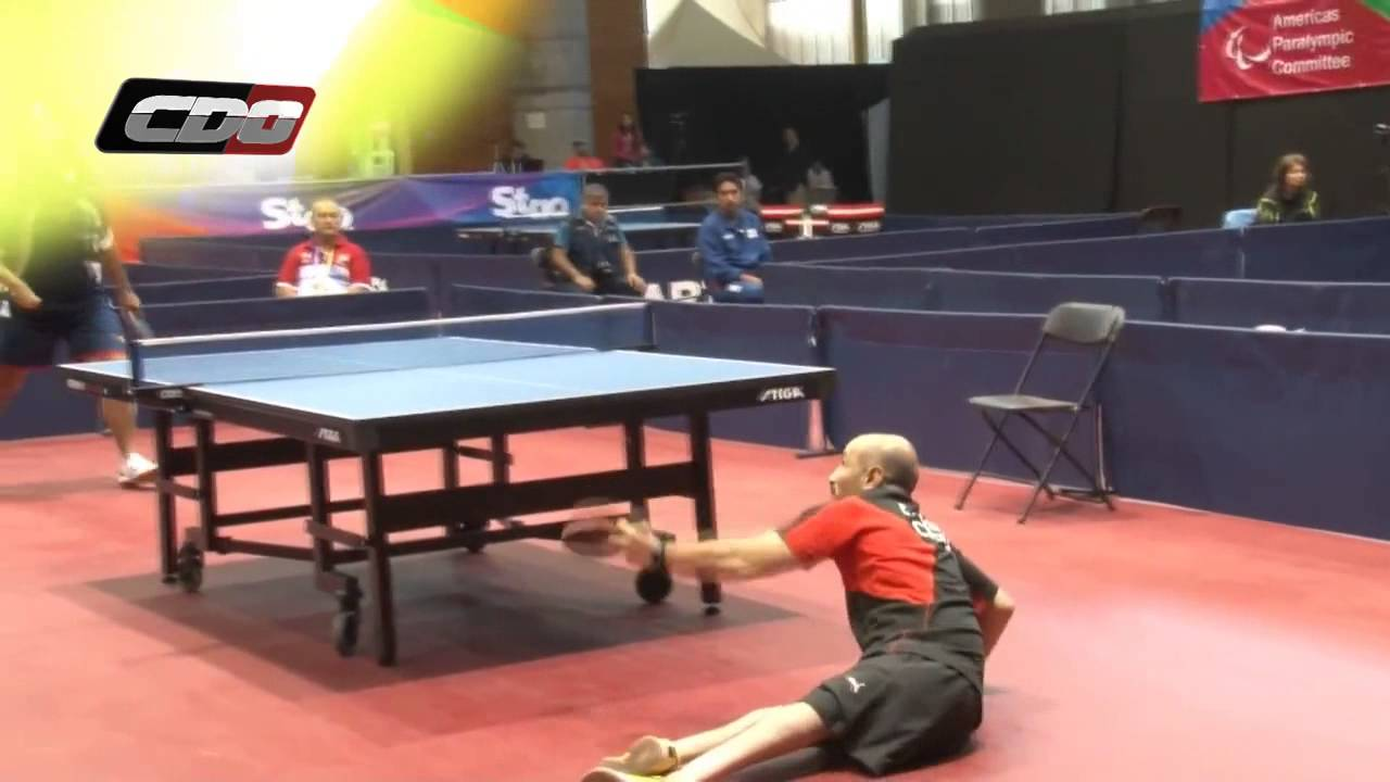 Un Point De Tennis De Table Incroyable En Handisport Youtube