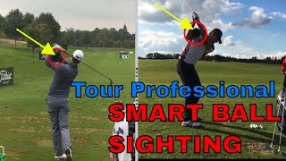 Martin Chuck | European Tour Players Marc Warren and Laurie Canter | Tour Striker Smart Ball