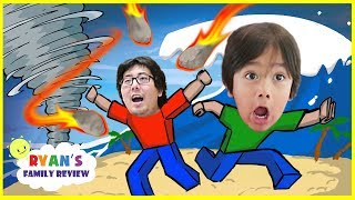 ROBLOX Island Challenge Let's Play with Ryan's Family Review!