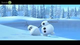 Снеговик,олень и морковка)