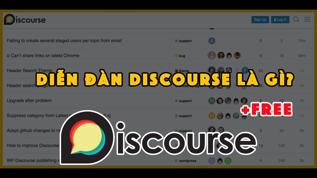 Giới thiệu về nền tảng diễn đàn (forum) miễn phí Discourse