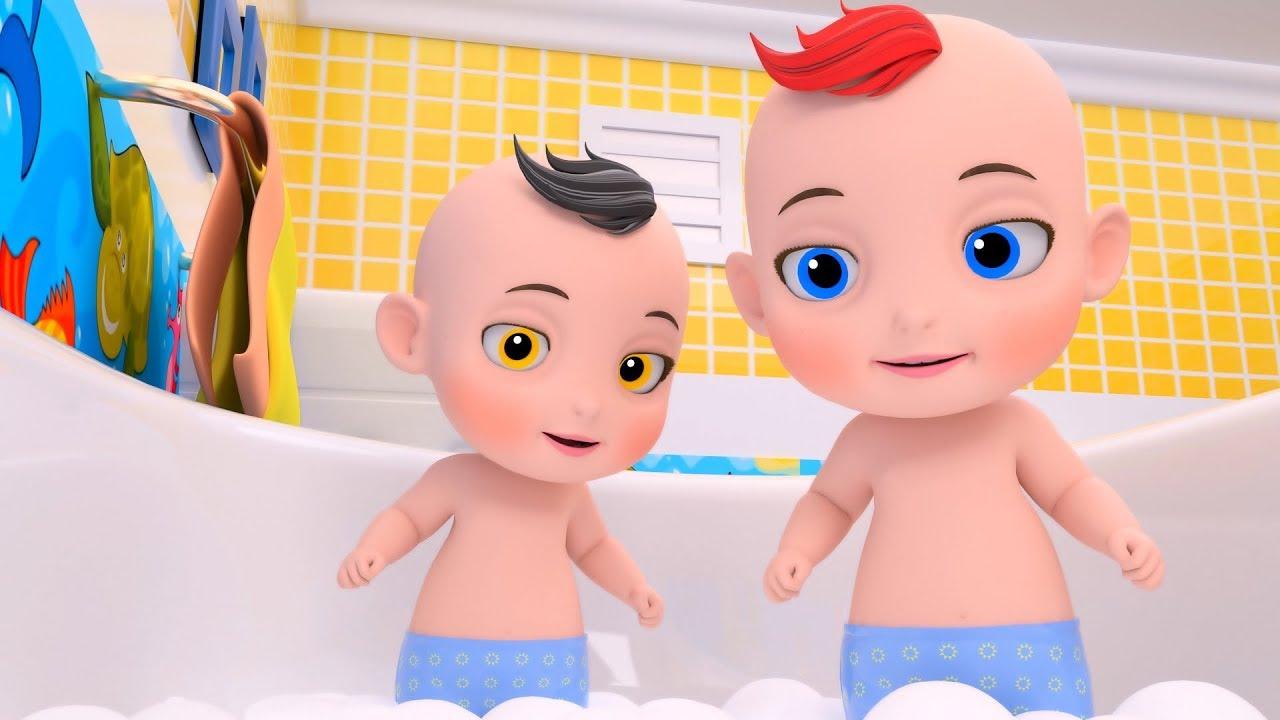 Bath song   Babies are learning   Nursery Rhymes Preschool Songs for Kids