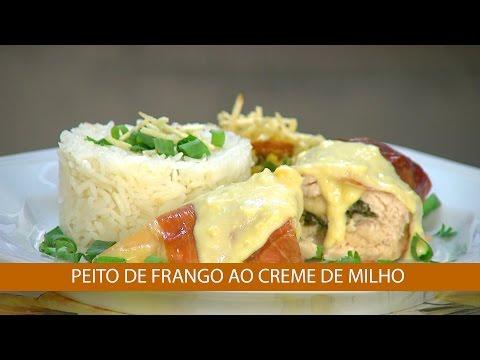 PEITO DE FRANGO AO CREME DE MILHO