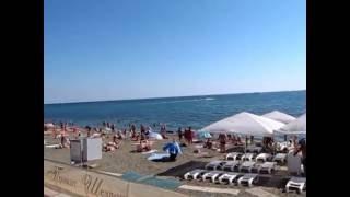 Набережная и пляжи города Судак (Крым)(Видеопрогулка по всей бухте г. Судака - от крайней западной части бухты (подножье Генуэзской крепости)..., 2016-09-13T07:24:54.000Z)