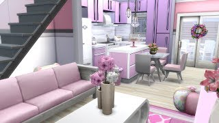 THE SIMS 4: SPEED BUILD // VALENTINES DAY LOFT // NO CC