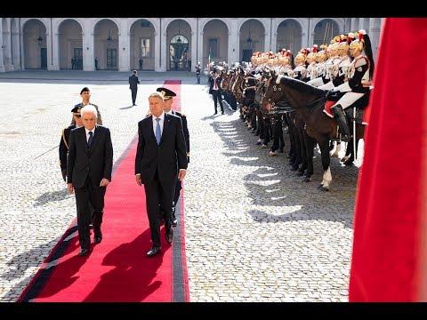 Quirinale: Mattarella riceve il Presidente della Romania in Visita di Stato