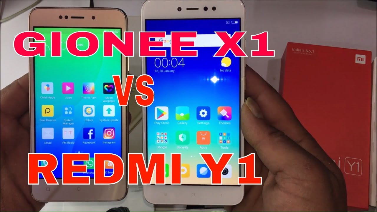 Gionee X1 vs Redmi Y1 Full unboxing,review and camera test