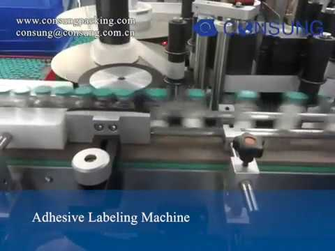 High Speed Medical Bottle Adhesive Labeling Machine