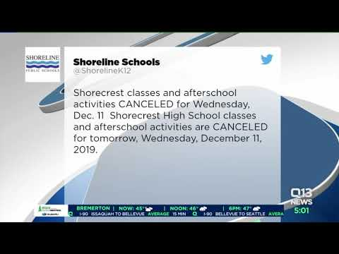 Possible threat cancels classes at Shorecrest High School Wednesday