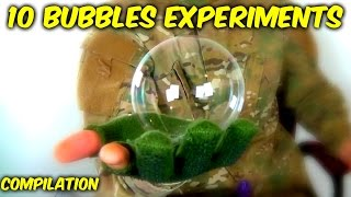 10 Bubbles Science Experiments Compilation