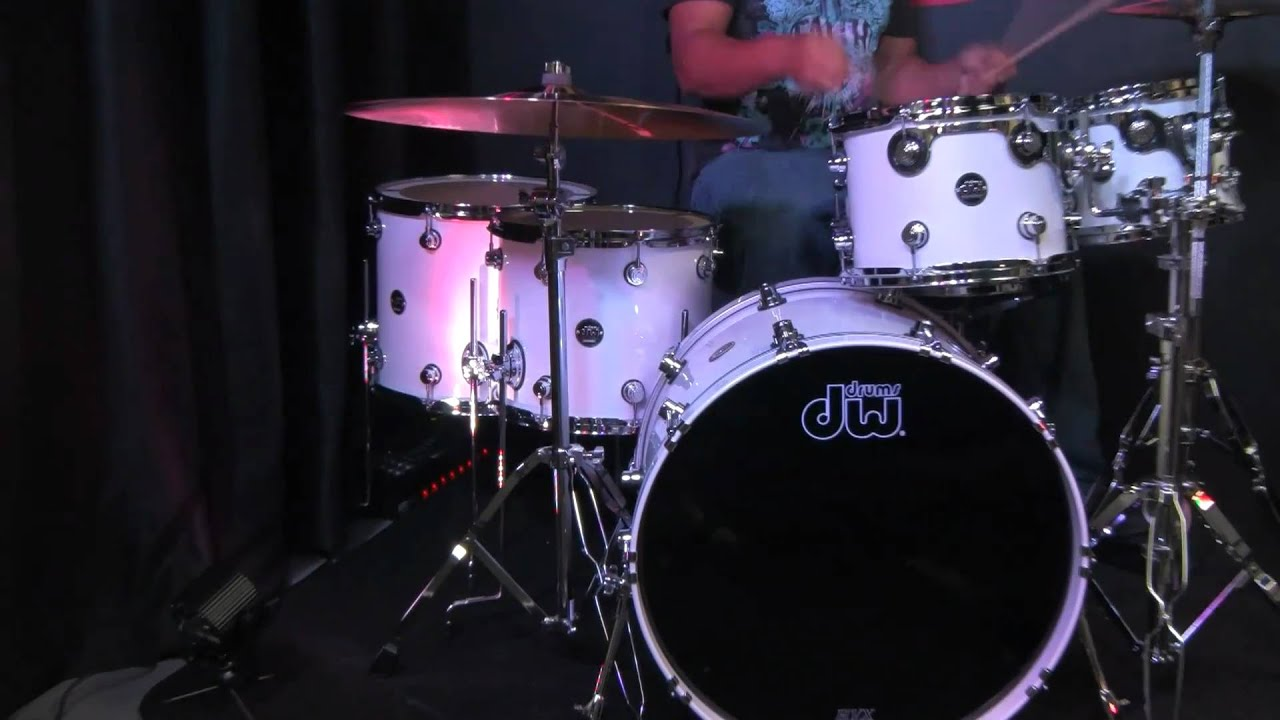 dw performance series drums maple 6pc white ice youtube. Black Bedroom Furniture Sets. Home Design Ideas