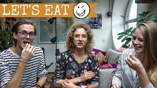 americans try Dutch Dropjes (Liquorice)  Amsterdam  Dutch Candy Taste Test 2017 with the Way Away