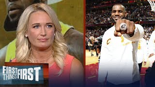 Sarah Kustok on Shaq\'s comments on LeBron joining the Lakers | NBA | FIRST THINGS FIRST
