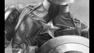 Speed Drawing: Captain America (Chris Evans)