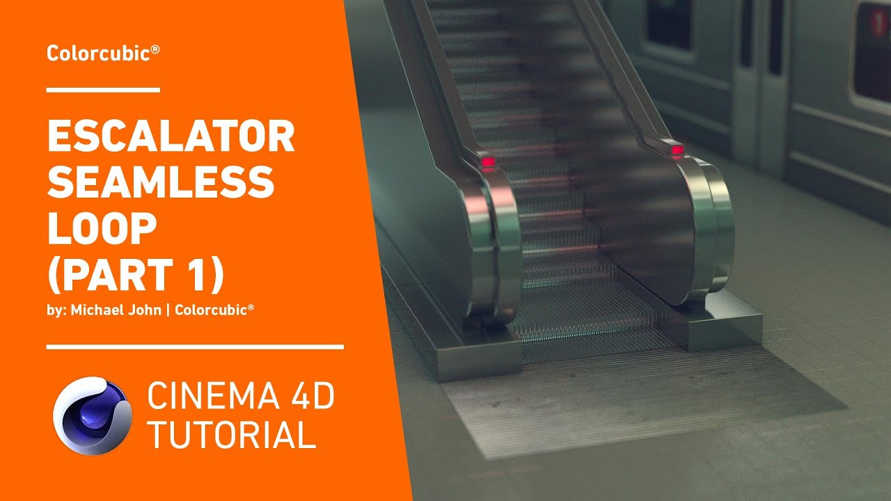 Cinema 4D Tutorial - Escalator Seamless Loop (Part 1)