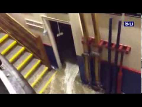Wells Lifeboat Station flooded by storm surge