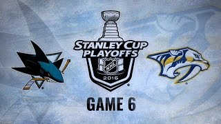 Predators edge Sharks 4-3 in OT, force Game 7