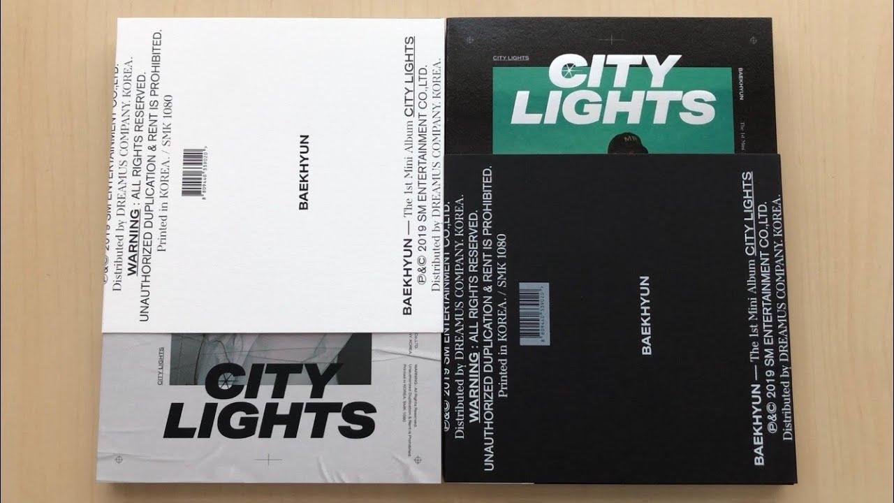 Unboxing Baekhyun 백현 1st Mini Album City Lights 시티 라이츠