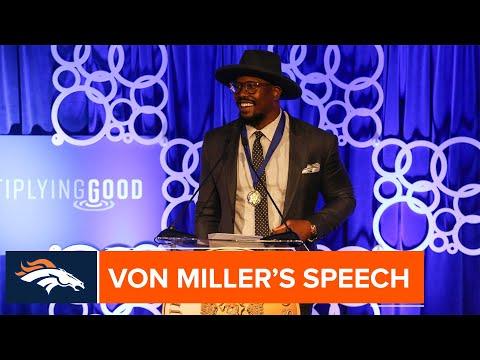 Von Miller Delivers Acceptance Speech At 2019 Jefferson Awards
