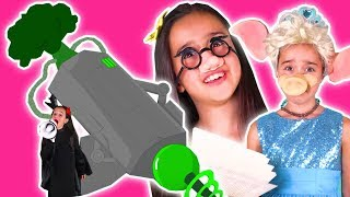 MALICE'S GIANT BROCCOLI LASER - No More Gummy Candy! - Princesses In Real Life | Kiddyzuzaa