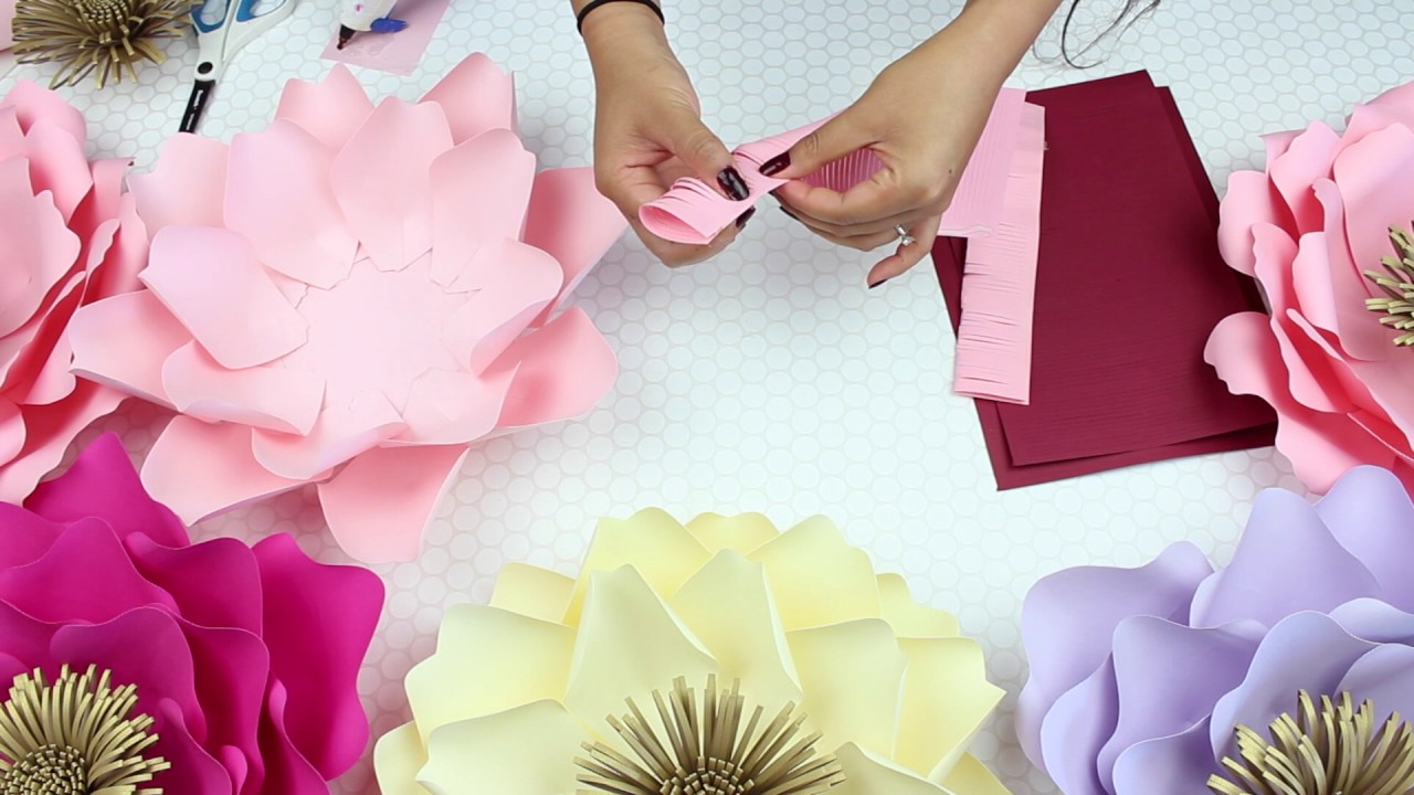 Diy Paper Flowers Template 12 Version 2 Youtube