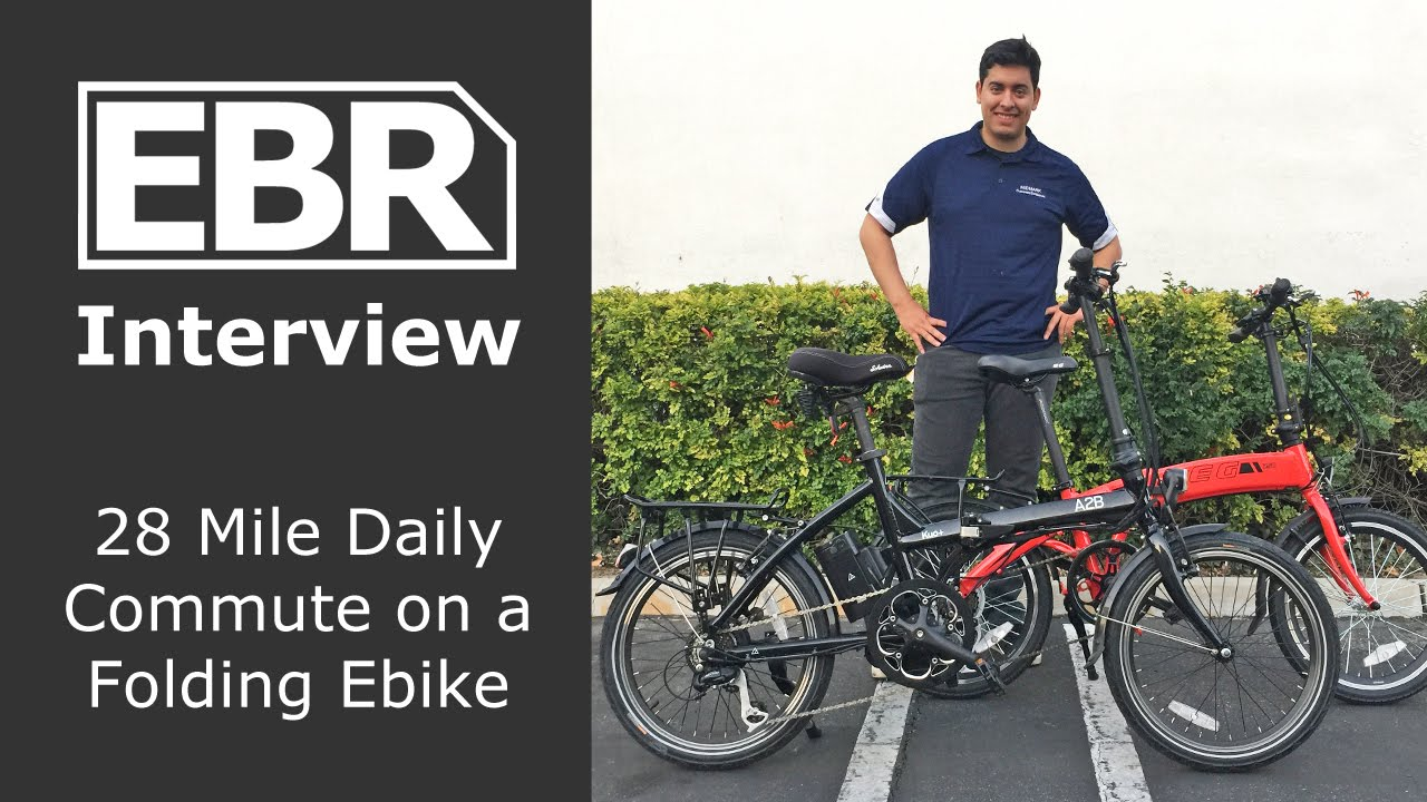 Commuting 28 Miles a Day on a Folding Ebike - Customer
