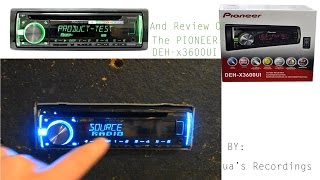 Pioneer DEH-x3600UI Review/Product Test