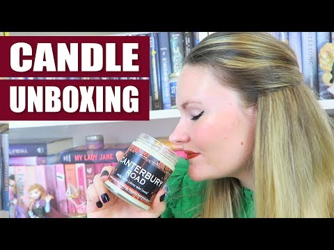 Unboxing! - Bookish Candles by Canterbury Road Co.