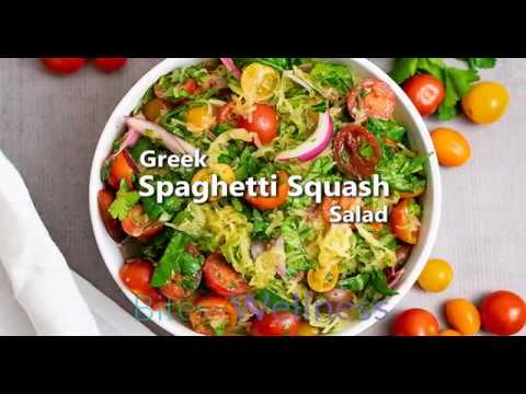 Greek Spaghetti Squash Salad