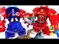 Dinosaurs appeared! Marvel Super hero adventure Captain America, Iron Man Armor! - DuDuPopTOY