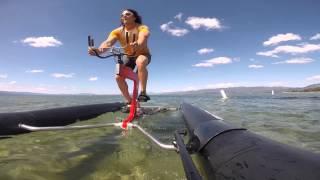 Schiller Sports - X1 water bike on Lake Tahoe, California
