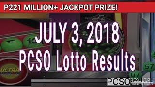 PCSO Lotto Results Today July 3, 2018 (6/58, 6/49, 6/42, 6D, Swertres, STL & EZ2)