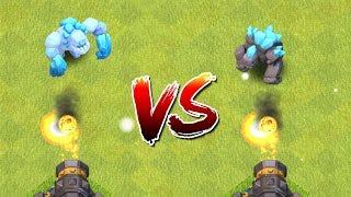 ICE GOLEM vs GOLEM vs ALL DEFENCES - Clash of Clans Battle! New CoC Troop Attacks