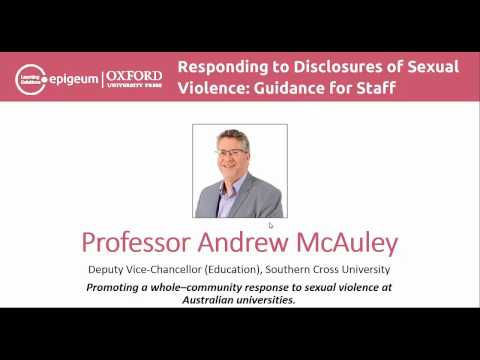 Responding to Disclosures of Sexual Violence: Guidance for Staff