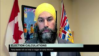 NDP Leader on the possibility of a spring election