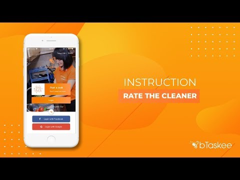 How to rate a cleaner on bTaskee app - bTaskee on demand home cleaning service