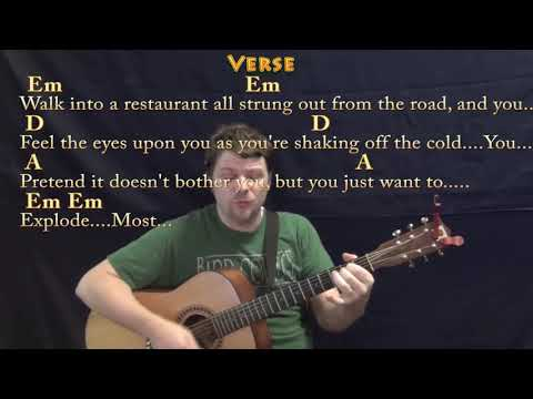 Turn the Page (Bob Seger) Guitar Cover Lesson with Chords/Lyrics ...